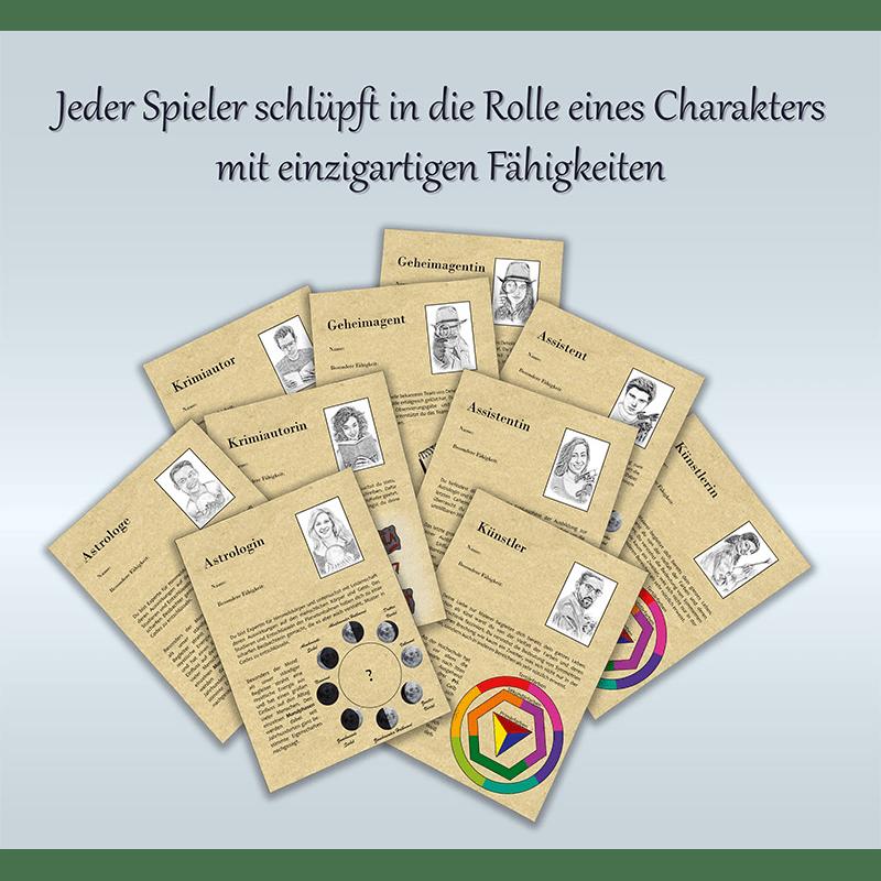Steckbriefe der verfügbaren Charaktere der Mission Winfrieds Rache.